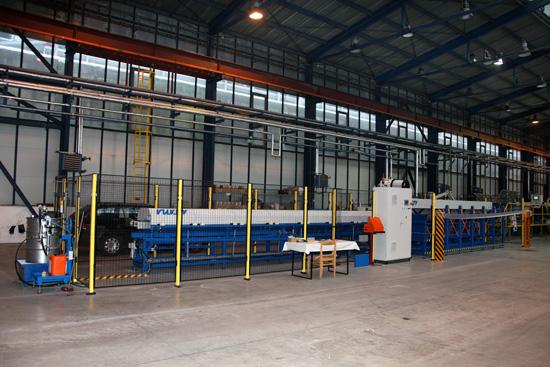 Nová linka je prototypovým zariadením, vyrobeným na mieru ŽP a.s.. F: I. Kardhordová