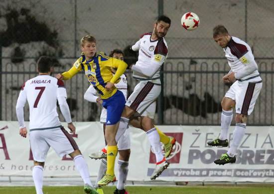 V prvom zápase jarnej časti Fortuna ligy sa mužstvá rozišli zmierlivo, remízou 0:0. Foto: A. Nociarová