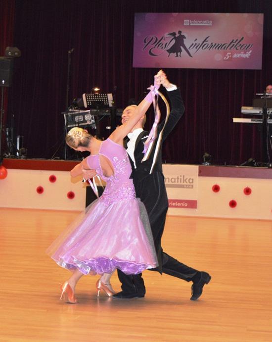 Tanečné vystúpenie Vanesy Indrovej aFilipa Vlčeka zFáber Dance School