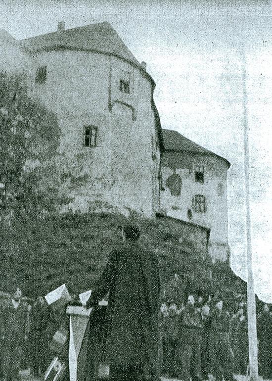 Otvorenie strediska pracujúceho dorastu na hrade Ľupča