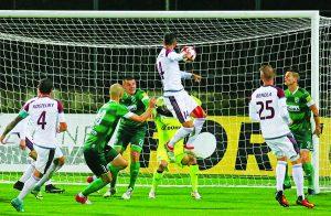 Lazar Djordjevič takto otvoril skóre zápasu s Prešovom.