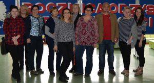 Koordinátori projektu z Lotyšska, Litvy, Poľska, Slovenska a Cypru v hosťujúcej inštitúcii v Športovej škole v Gdaňsku