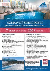 Ozdravný zimný pobyt pre zamestnancov ŽP a.s.