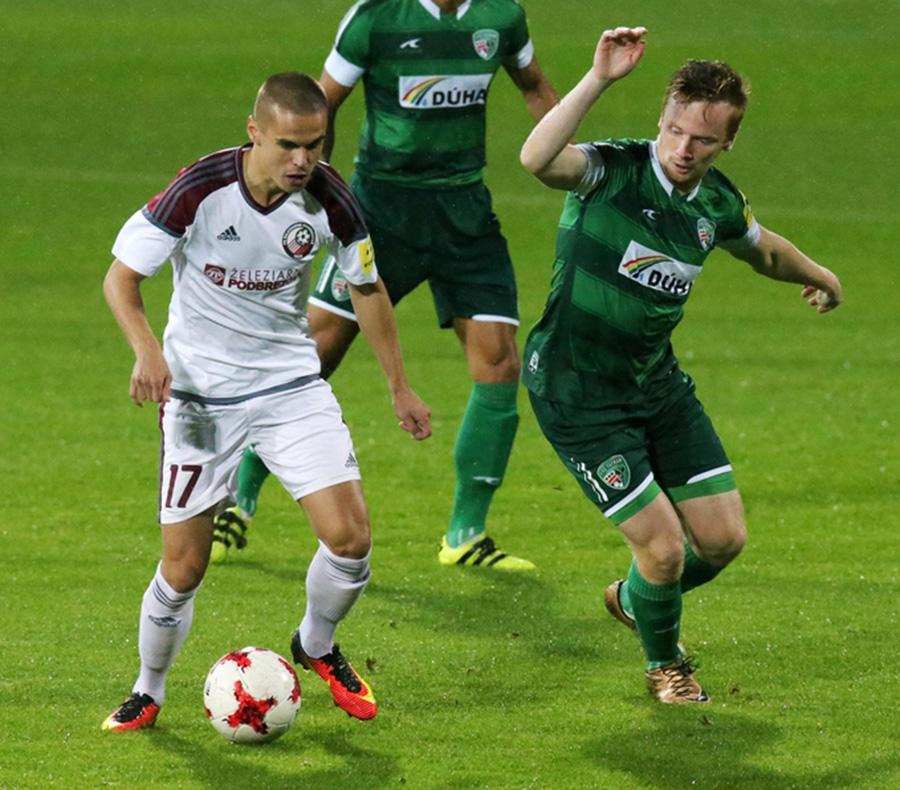 4633344310981 Na víťazstve proti 1. FC Tatran Prešov sa významne podieľal Dávid Leško,  ktorý stelil