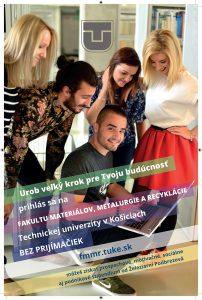 Príďte študovať na Fakultu materiálov, metalurgie a recyklácie TU v Košiciach
