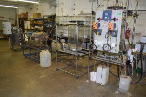Poloprevádzková linka hydrometalurgického spracovania úletov z elektrickej oblúkovej pece zo ŽP a.s.,