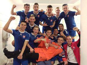Radosť po prvom víťazstve nad Maďarskom