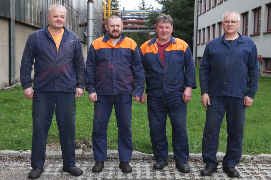 Víťazná zmena B prevádzkovej strojnej údržby a elektroúdržby Železiarne Podbrezová