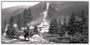 Hydrocentrála Jasenie - stav okolo roku 1930