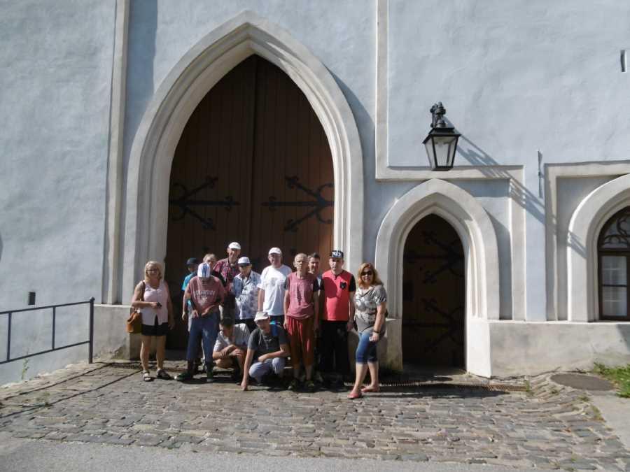 Klienti zo Špecializovaného zariadenia Kotva na hrade Ľupča