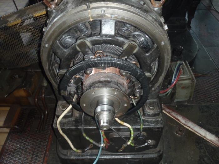 Oprava hydrocentrály Piesok, oprava budiča generátora č. 2.