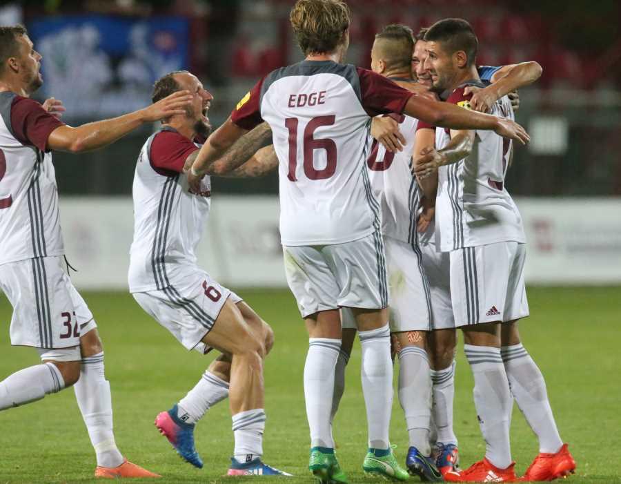 Proti Nitre sa naši futbalisti z gólu radovali až trikrát. Foto: A. Nociarová