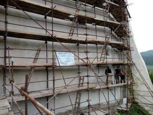 Západná fasáda po rekonštrukcii