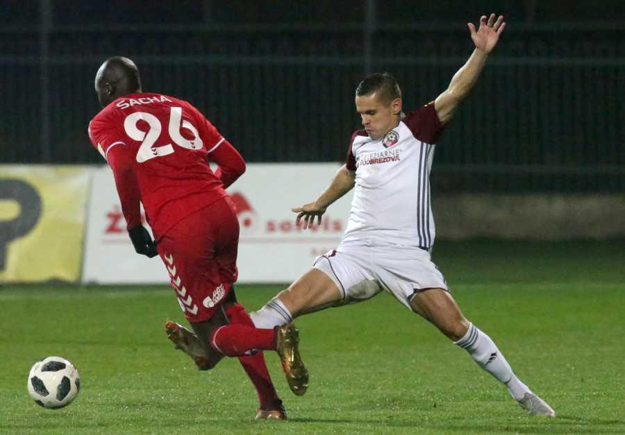 Dávid Leško bol v zápase so Senicou našim najaktívnejším hráčom. Ani jeho dva góly však na body nestačili. Foto: A. Nociarová