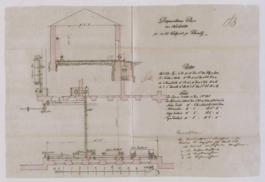 Plán zariadenia haly valcovne v (Pod)Brezovej