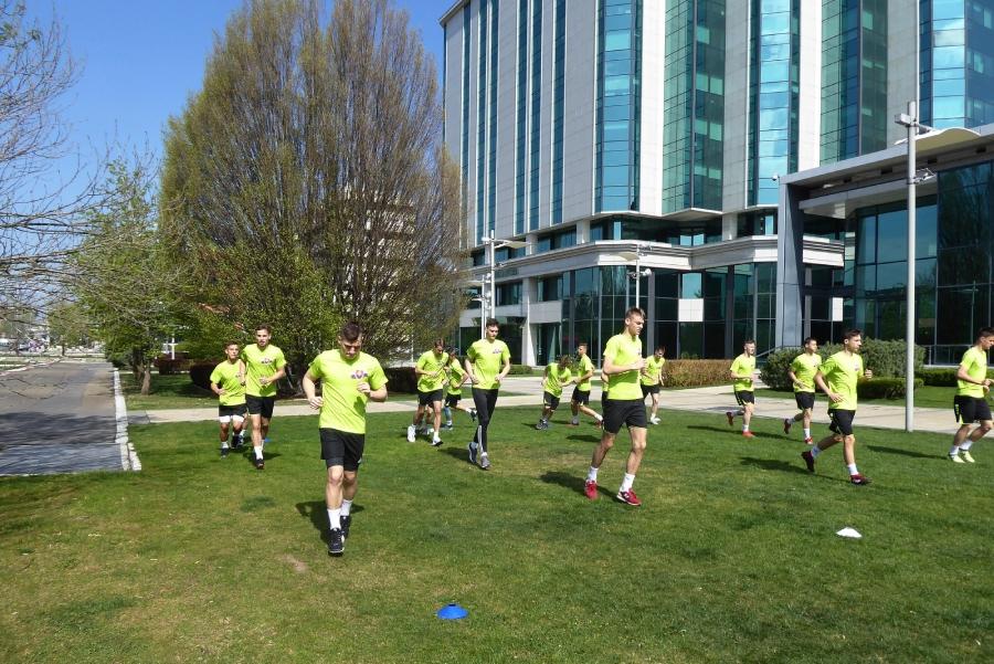 Naši chlapci počas jedného z tréningov v Belehrade.