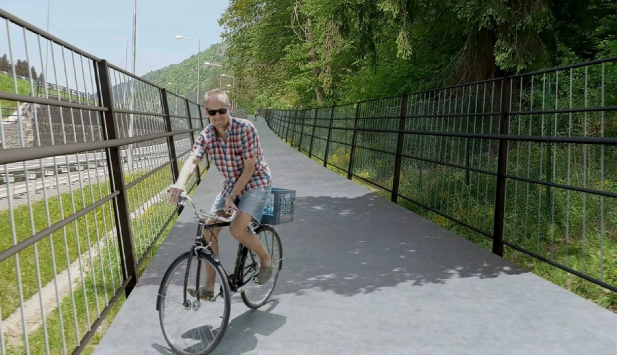 Cyklotrasa Brezno - Valaská má byť hotová v marci 2020.