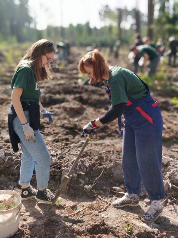 Počas programu študenti aj vysádzali les