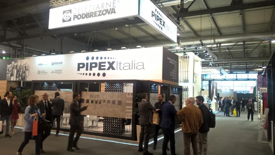 Železiarne Podbrezová sa podujatia zúčastnili pod hlavičkou svojej najväčšej distribučnej spoločnosti PIPEX Italia SpA