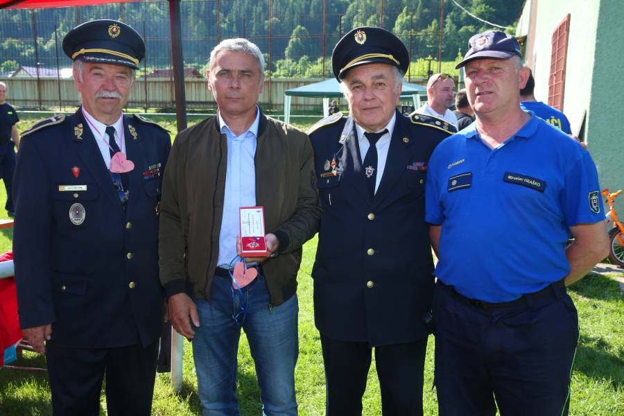 Zľava Imrich Kolpák, Peter Kovalčík, Ján Hudák a Miroslav Hraško. Foto: A. Nociarová