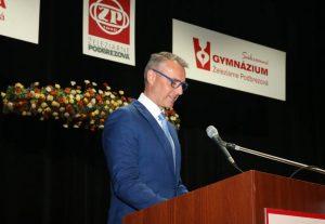 Richard Raši okrem iného v príhovore vyzdvihol potrebu duálneho vzdelávania. Foto: A. Nociarová