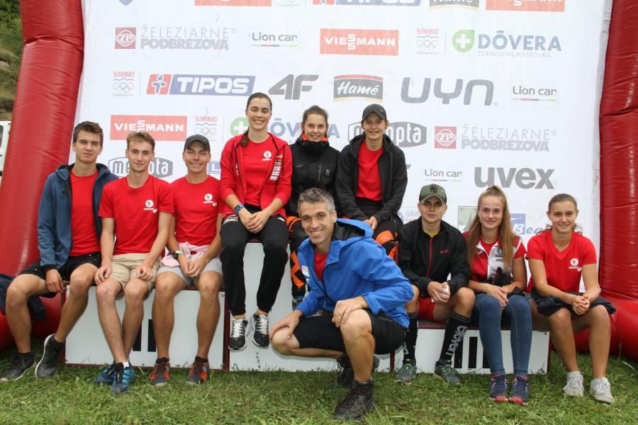 Biatlonisti ŠK Železiarne Podbrezová na pretekoch v Predajnej. Foto: FB