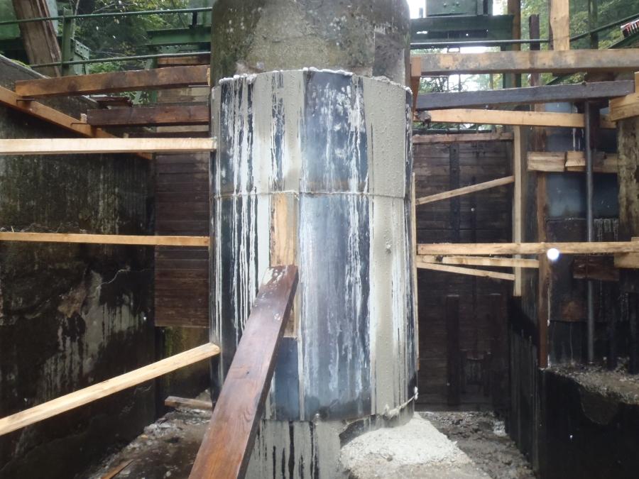 HC Jasenie – oprava betónových pilierov v hati Lomnistá