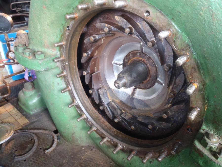 HC Piesok – kontrola rozvádzacích lopatiek v turbíne