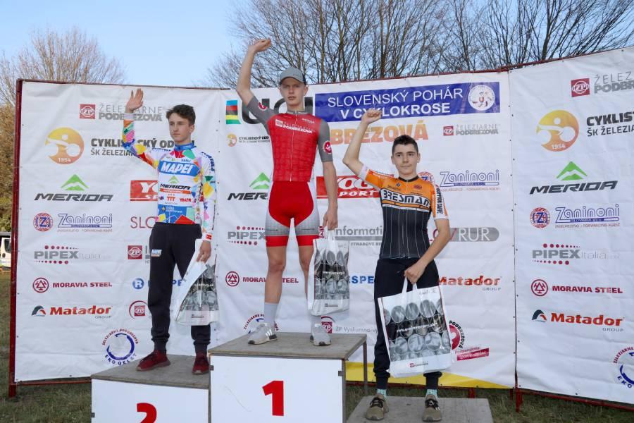 M. Schwarzbacher zvíťazil na domácej trati v kategórii kadetov. Foto: I. Kardhordová