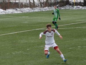 Filip Szetei počas prípravného zápasu proti Tatranu Prešov