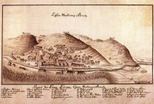 Celkový pohľad na plán železiarne v Hronci, rok 1765. Foto: archív redakcie