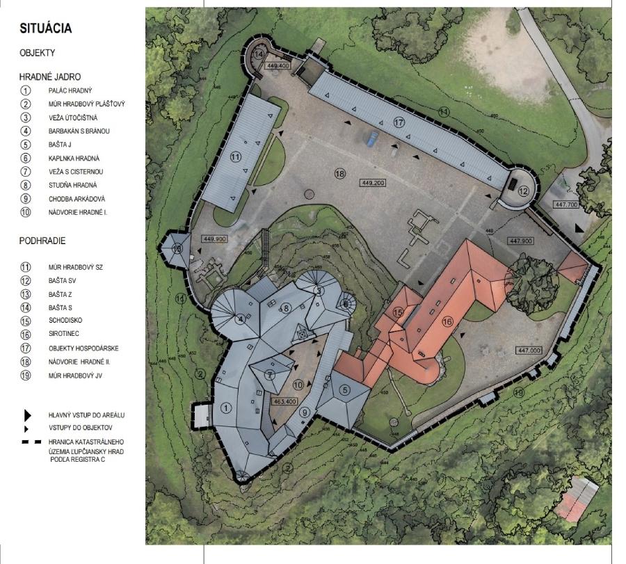 Pôdorys hradu Ľupča
