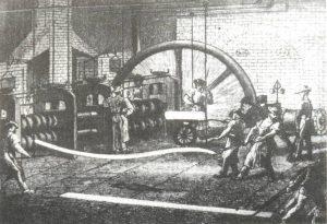 Historické valcovanie koľajníc. Foto: archív redakcie