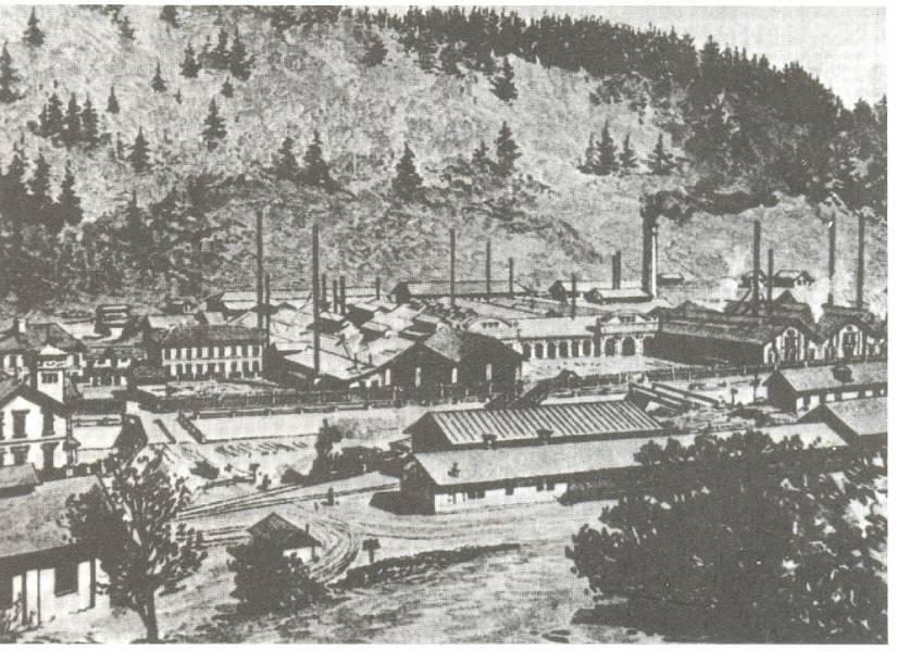 Pohľad na železiareň okolo roku 1890. Foto: archív redakcie