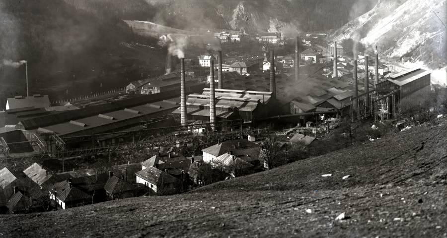 Stredoslovenské železiarne boli premenované na Švermove železiarne v roku 1949. Foto: Archív ŽP
