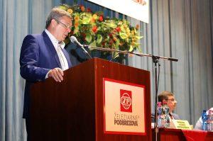 Valné zhromaždenie otvoril Ing. Marian Kurčík, podpredseda predstavenstva ŽP a.s. Foto: I. Kardhordová