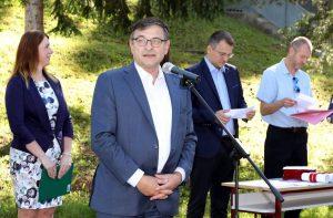 V úvode sa prítomným prihovoril Ing. Ján Banas, predseda Dozornej rady ŽP a.s. Foto: I. Kardhodrová