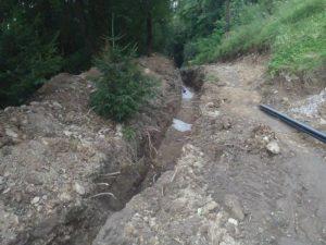 Pokládka potrubia úžitkovej vody