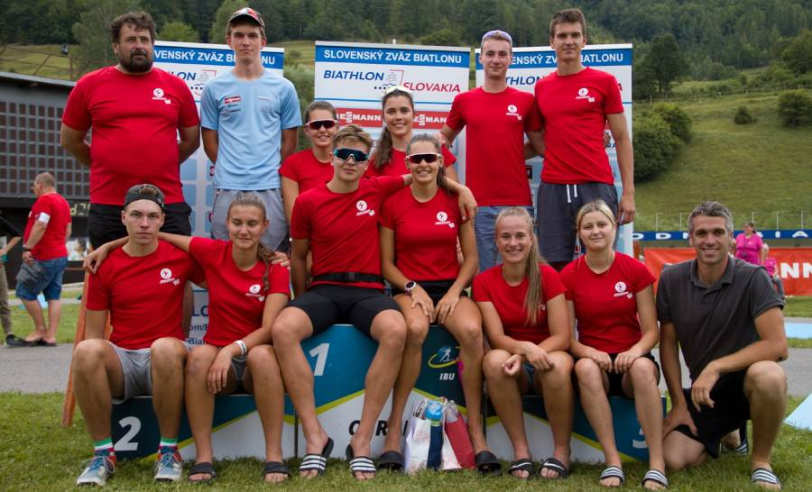 Biatlonový oddiel ŠK Železiarne Podbrezová na prvom kole Viessmann pohára v letnom biatlone v Osrblí