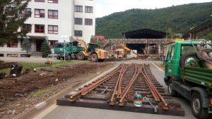 Odstránenie starého železničného lôžka