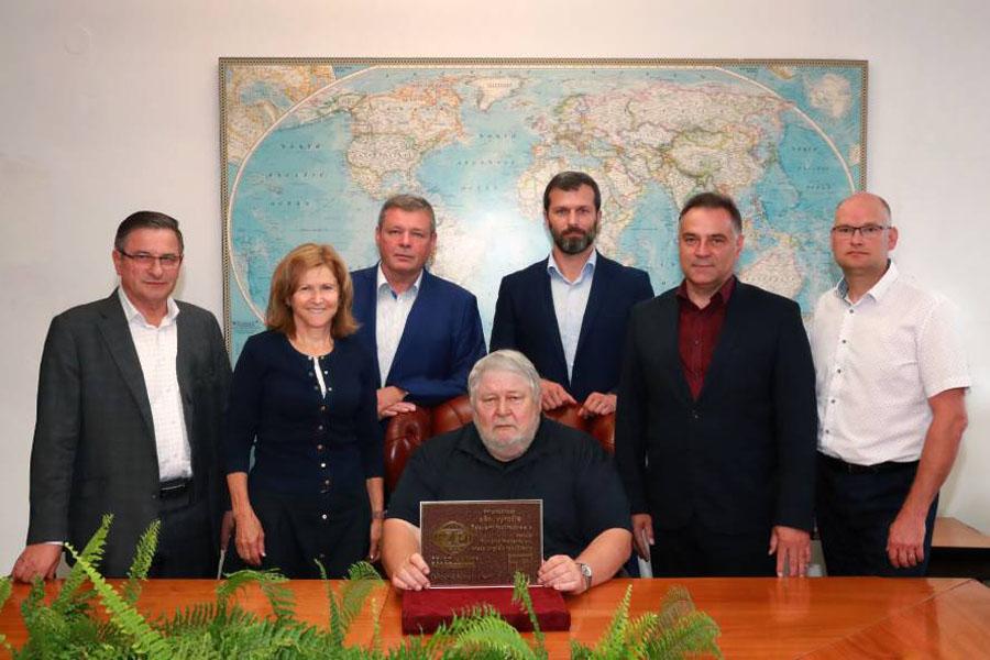 180. výročie podbrezovských železiarní - blahoželanie od Technickej univerzity v Košiciach
