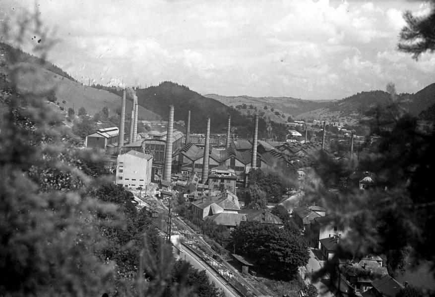 Pohľad na Podbrezovú v šesťdesiatych rokoch minulého storočia. Foto: archív redakcie