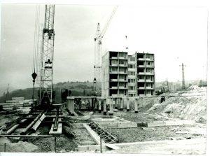 Pohľad na výstavbu prvej etapy SOU hutníckeho v Lopeji. Foto: archív redakcie