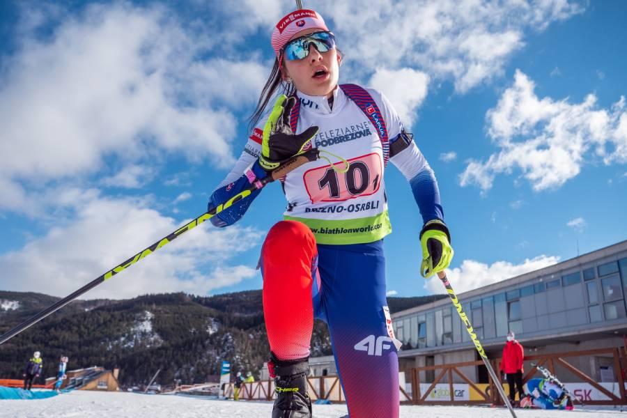 O najlepší výsledok v Osrblí sa postarala štafeta žien, kde sa na prvom úseku predstavila naša pretekárka Mária Remeňová. Slovenské biatlonistky skončili ôsme. Foto: I. Stančík