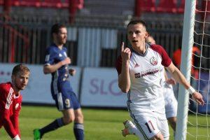 Daniel Pavúk sa na víťazstve nad Popradom podieľal tromi gólmi. Foto: A. Nociarová