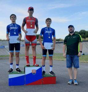 Starší žiak Ondrej Hrico vyhral preteky Slovenského pohára v dráhovej cyklistike